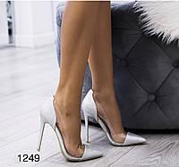Туфлі на випускний,вечірні,блискучі срібло, фото 1