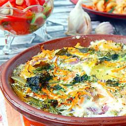 Тушковані овочі з соєвим соусом в сметані з соєвим соусом Tanaka