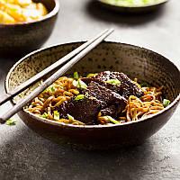 Китайская лапша с говядиной и соусом Терияки