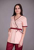 Женский хирургический медицинский костюм Персик