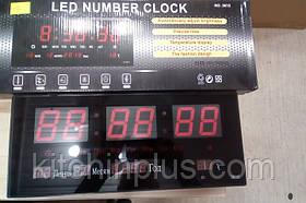 Цифровые настенные часы VST -3615 Led (красный)