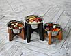 КІТ-ПЕС by smartwood Миска на підставці   Миска-годівниця металева для собак цуценят S - 1 миска 450 мл, фото 2