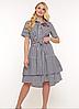 Літнє плаття-сорочка в смужку , з 52-58 розміри