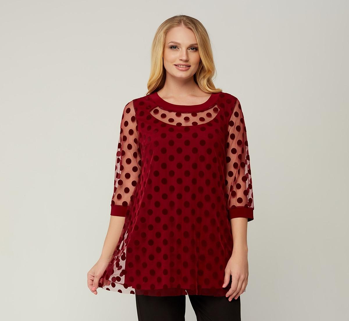 Блуза Грейс (52-62) красный