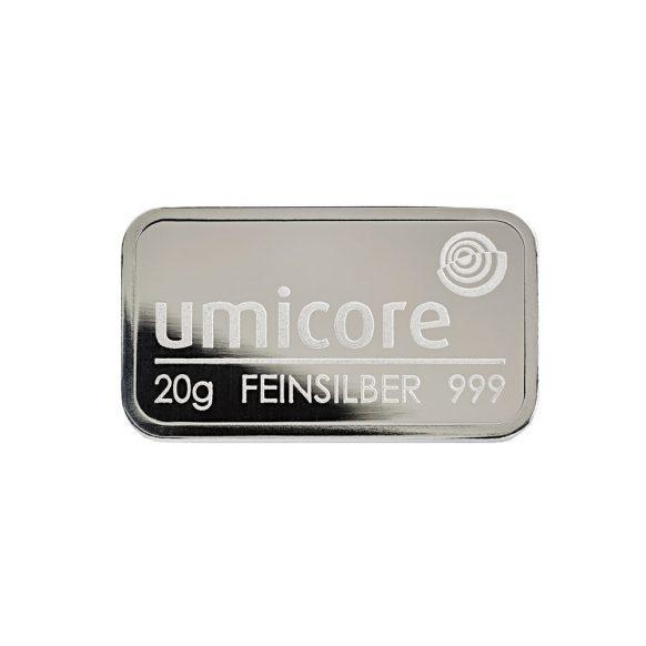 Слиток серебра 20 грамм Umicore