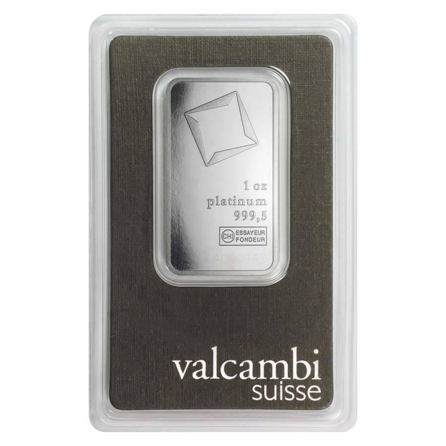Слиток платины 1 унция Valcambi (Credit Suisse)