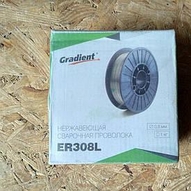 Проволка сварочная нержавеющая Gradient ER308L 0.8 мм, 1 кг
