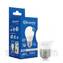 Світлодіодна лампа Lectris G45  7W 4000K 220V E27 1-LC-1204
