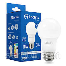 Светодиодная лампа Lectris A60 10W 4000K 220V E27 1-LC-1106