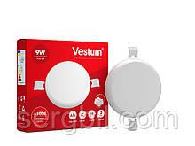 """Круглий світлодіодний врізний світильник """"без рамки"""" Vestum 9W 4100K 1-VS-5502"""