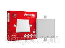 """Квадратний світлодіодний врізний світильник """"без рамки"""" Vestum 12W 4100K 1-VS-5603"""
