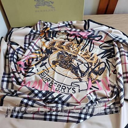Платок Burberry шелковый с ручной подшивкой, фото 2