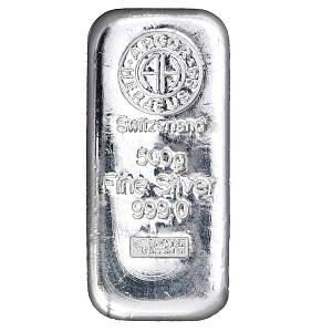 Слиток серебра 500 грамм Летой Argor-Heraeus