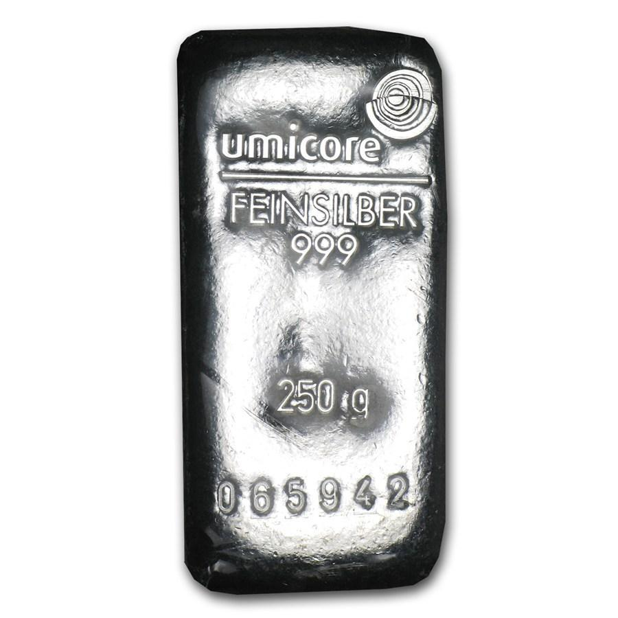 Слиток серебра 250 грамм Летой Umicore