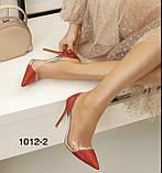 Чорні жіночі туфлі з силіконом,нарядні, фото 3