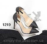 Чорні жіночі туфлі з силіконом,нарядні, фото 7
