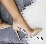 Чорні жіночі туфлі з силіконом,нарядні, фото 6