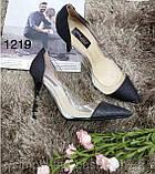 Чорні жіночі туфлі з силіконом,нарядні, фото 8