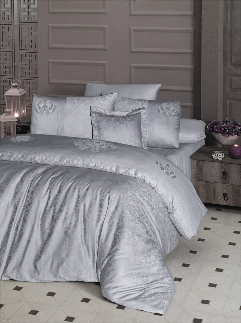 Комплект постельного белья евро Moonlight V.I.P Mirabel Gri