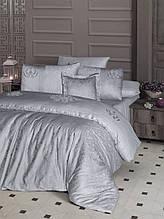 Шикарный Комплект постельного белья евро Moonlight V.I.P Mirabel Gri бренд First Choice