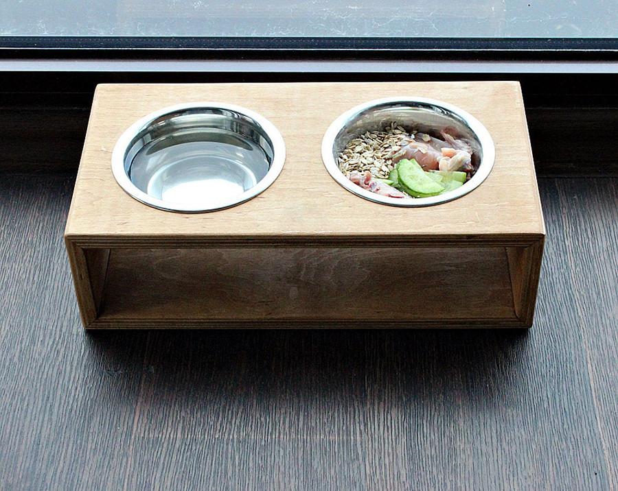 КІТ-ПЕС by smartwood Миска на підставці   Миска-годівниця металева для собак цуценят S - 2 миски 450 мл
