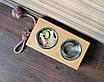КІТ-ПЕС by smartwood Миска на підставці   Миска-годівниця металева для собак цуценят S - 2 миски 450 мл, фото 5