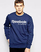 Летняя мужская спортивная кофта Reebok (Рибок), темно-синяя