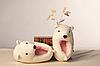 Тапочки Белые медведи, размер универсальный 27-29, стелька 18,5 см