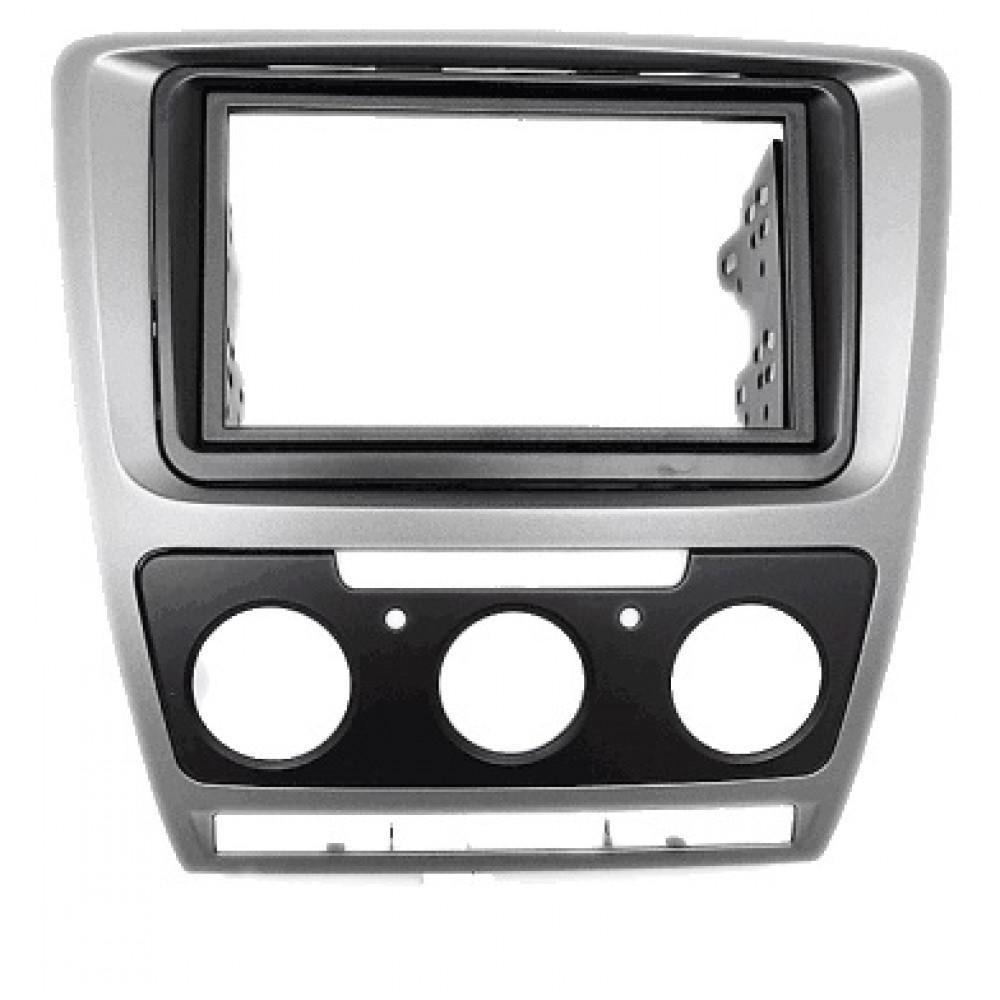 Рамка переходная Carav 11-185 Skoda Oktavia 08-13 (Manual Auto Air-Cond) Grey