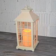 Декоративний ліхтар з LED свічок (30*14*14 див.), фото 1