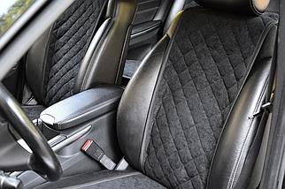 Накидки, чехлы на сидения автомобиля Алькантара стиль, Черные, Широкие, фото 3