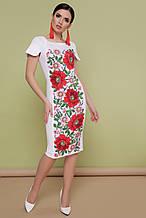 Трикотажна сукня з маками
