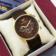 Наручные часы Emporio Armani Silicone 068 Gold-Brown