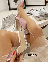 Блестящие женские туфли розовые, 35 размер, фото 1