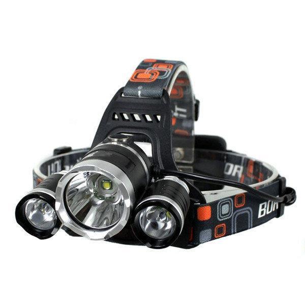 Фонарик налобный фонарь 3 LED лампы Bailong RJ 3000 T6