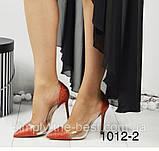 Красные блестящие туфли женские 35 размер, фото 2