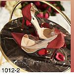 Красные блестящие туфли женские 35 размер, фото 3