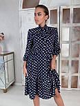 Платье Лайма синий горох, 46, фото 2