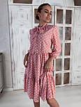 Платье Лайма розовый горох, 44, фото 2