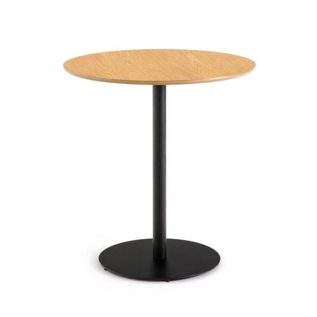 Круглі столики для кафе барів ресторанів з масиву дерева і металу