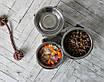 КІТ-ПЕС by smartwood Миска на підставці | Миска-годівниця металева для собак цуценят - 1 миска 750 мл, фото 2