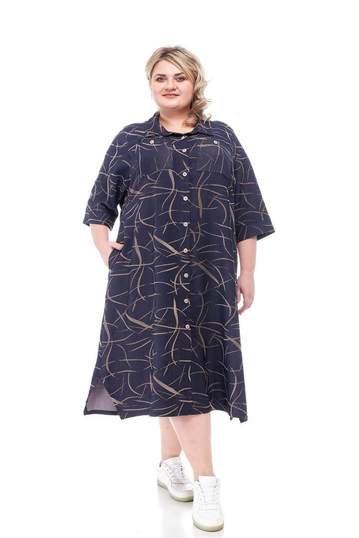 Модное женское платье батал Арния 2 цвета  (66-72)