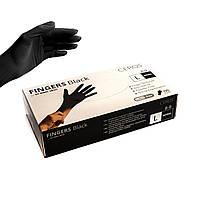 CEROS Рукавички нітрилові BLACK (L) - 100 шт/уп