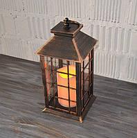 Декоративний ліхтар, світильник з лэд свічок (30*14*14 див.), фото 1