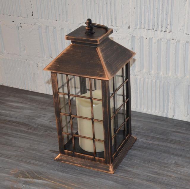Декоративний ліхтар, світильник з лэд свічок
