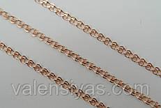 Позолоченная женская цепочка из серебра