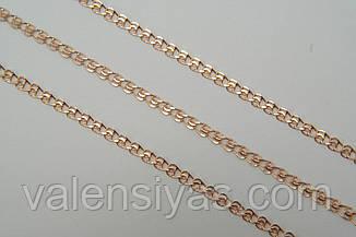 Позолоченная женская цепочка из серебра, фото 2