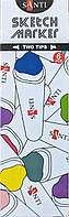Набор маркеров для скетчей Santi sketch Skin Tones, 6 шт/уп. код: 390568, фото 2