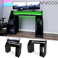 Vicco компьютерный стол Joel, геймерский стол 123x45, цвет черный