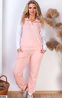 Женский спортивный костюм цвет пудра, фото 1